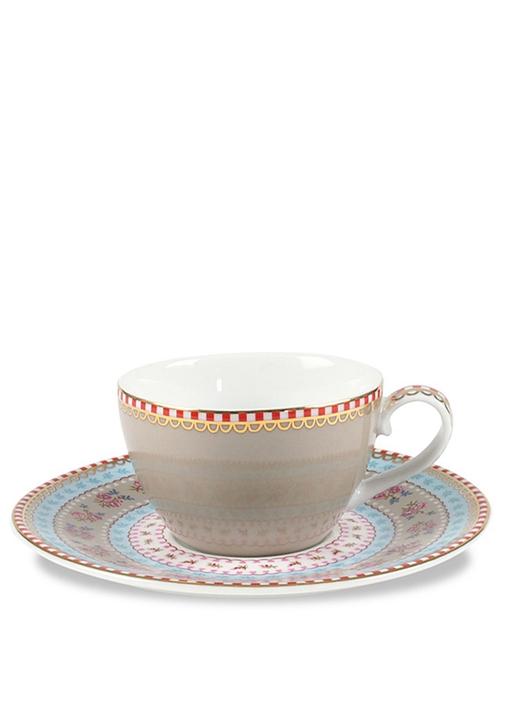 Floral Haki Çay Fincanı