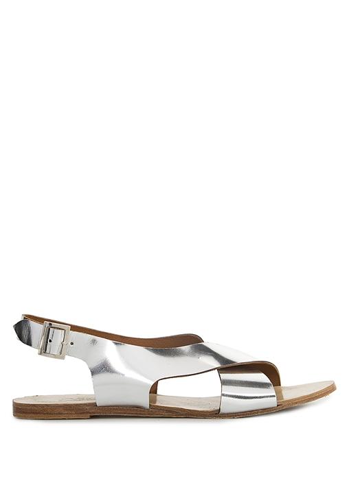 Gümüş Rengi Sandalet
