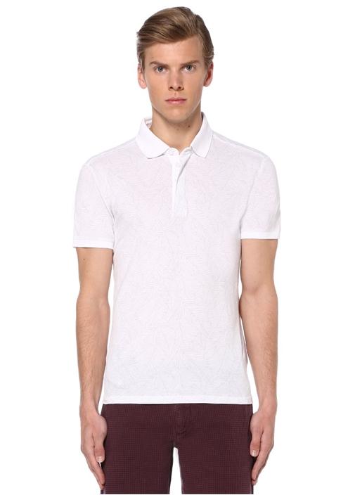 Beyaz Slim Fit Polo Yaka Tshirt