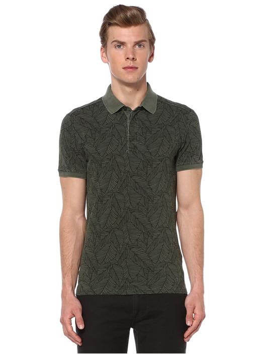 Yeşil Slim Fit Polo Yaka Tshirt