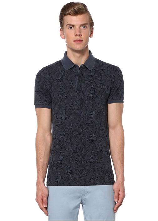 Lacivert Slim Fit Polo Yaka Tshirt