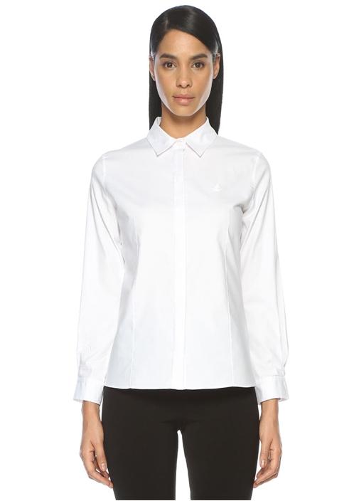 Beyaz Oxford Klasik Fit Gömlek