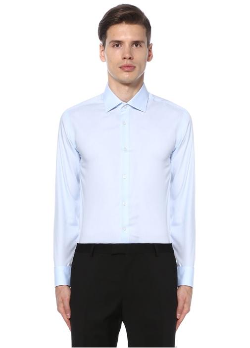 Mavi Slim Fit Noniron Özellikli Gömlek