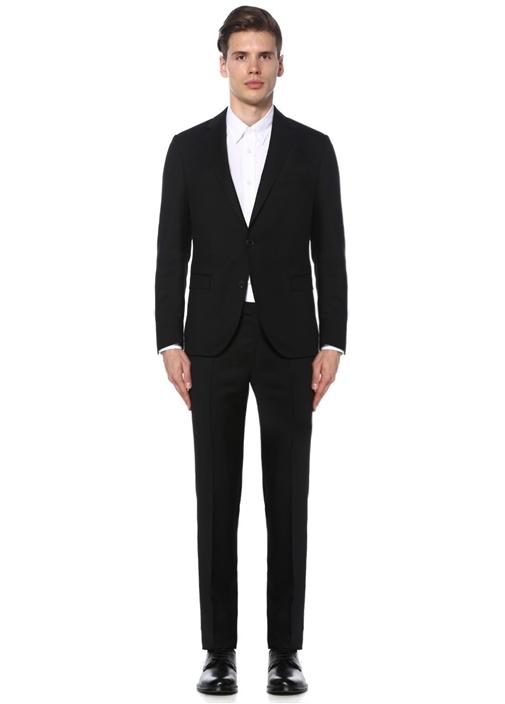 Siyah Klasik Kelebek Yakalı Takım Elbise