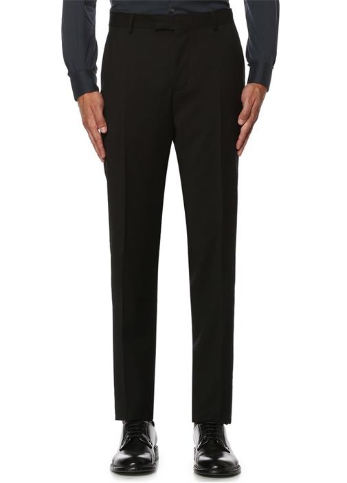 Siyah İnce Yünlü Klasik Pantolon