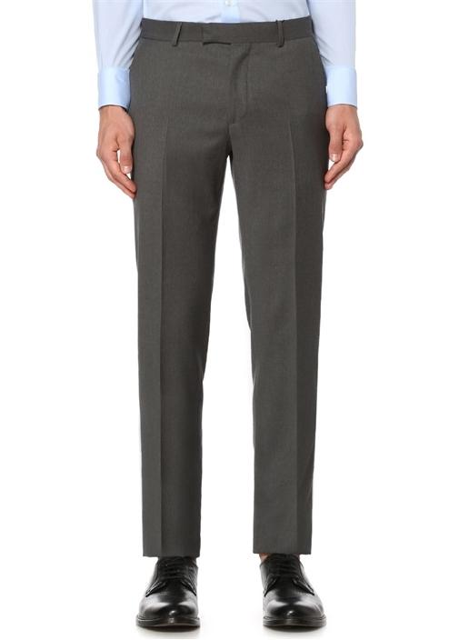 Gri İnce Yünlü Klasik Pantolon