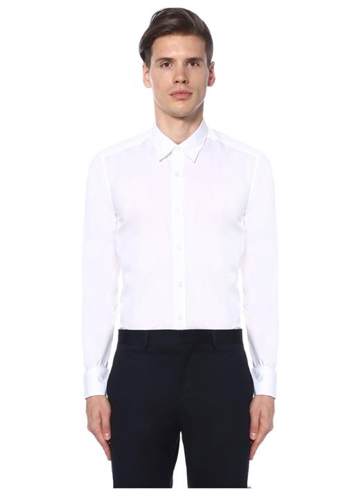 Beyaz İngiliz Yaka Özel Fit Gömlek
