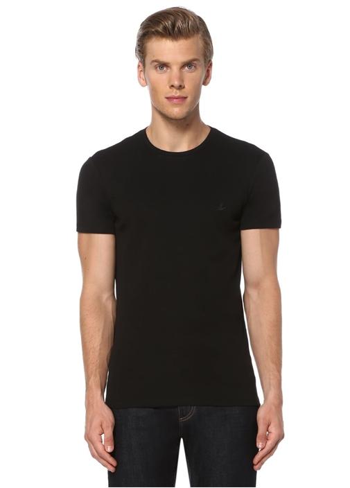 Siyah Beyaz Bisiklet Yaka 2'li Basic Tshirt