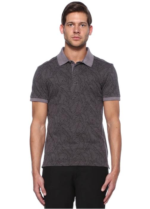 Antrasit V Yaka Basic Tshirt