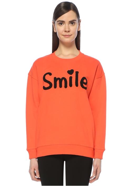 Mercan Nakışlı Havlu Sweatshirt