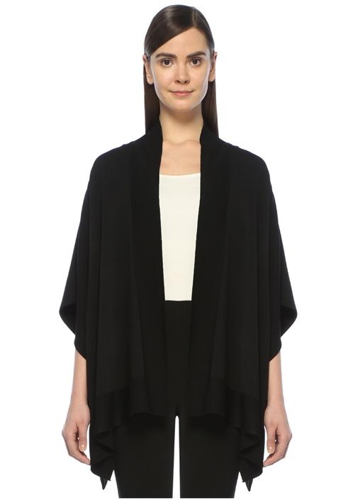 Siyah Arkası Krep Kimono Hırka