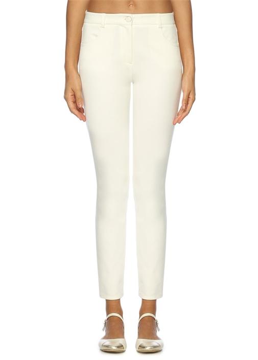 Kırık Beyaz Skinny 5 Cepli Pantolon