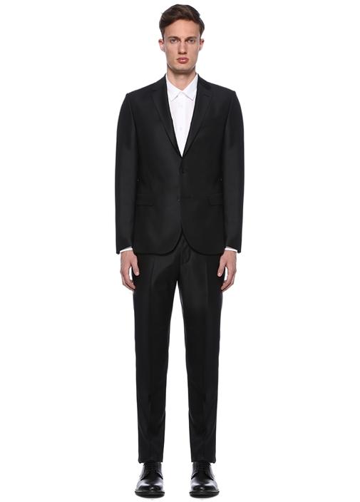 Uptown 120S Siyah Noniron Pike Dokulu Takım Elbise