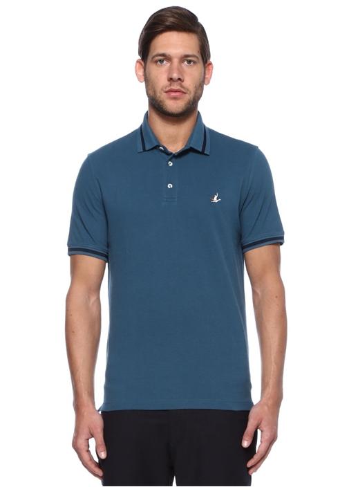 Mavi Beyaz Comfort Fit Polo Yaka Tshirt