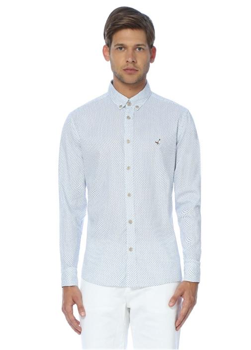 Mavi Kareli Comfort Fit Gömlek