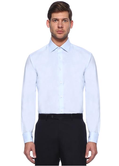 Comfort Fit Mavi Non Iron Klasik OxfordGömlek