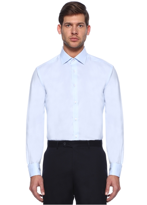 Mavi Comfort Fit Noniron Özellikli Oxford Gömlek