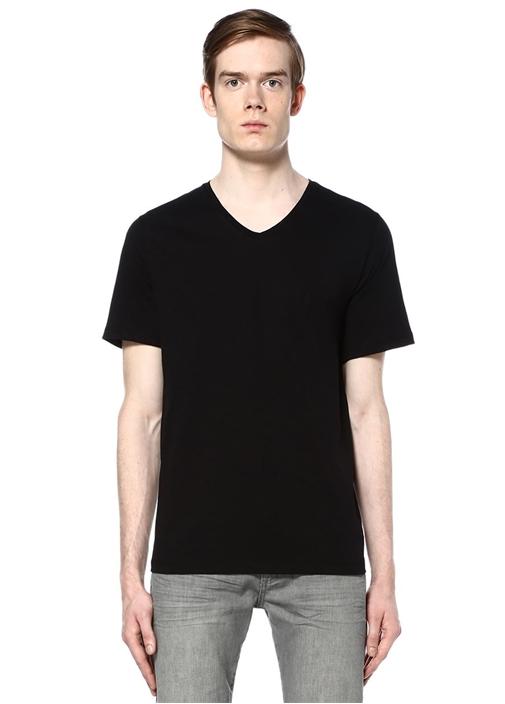 Siyah Bisiklet Yaka Basic Tshirt