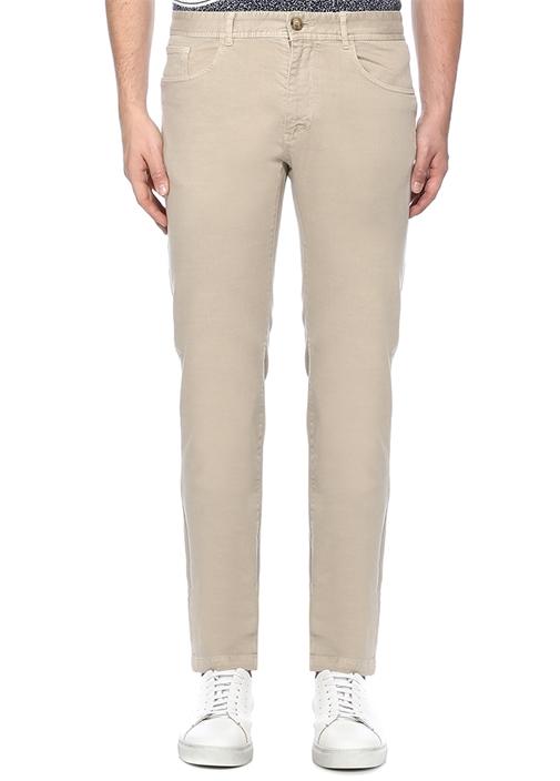 Slim Fit Bej Chino Pantolon