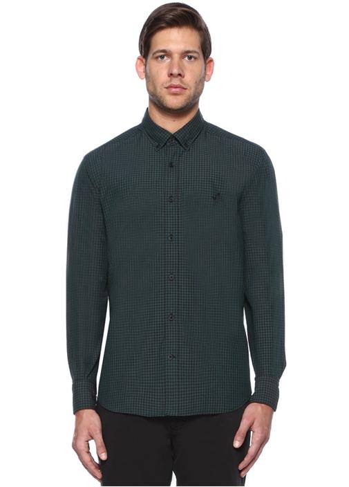 Yeşil Comfort Fit Gömlek