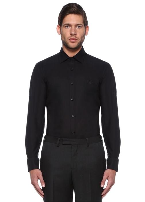 Siyah Comfort Fit Oxford Gömlek