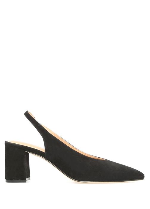Siyah Kalın Topuklu Ayakkabı