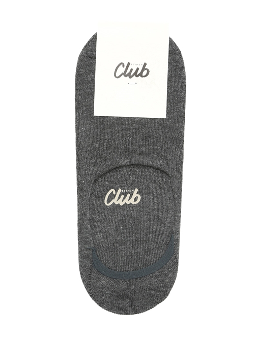 Antrasit Logo Jakarlı Kadın Çorap