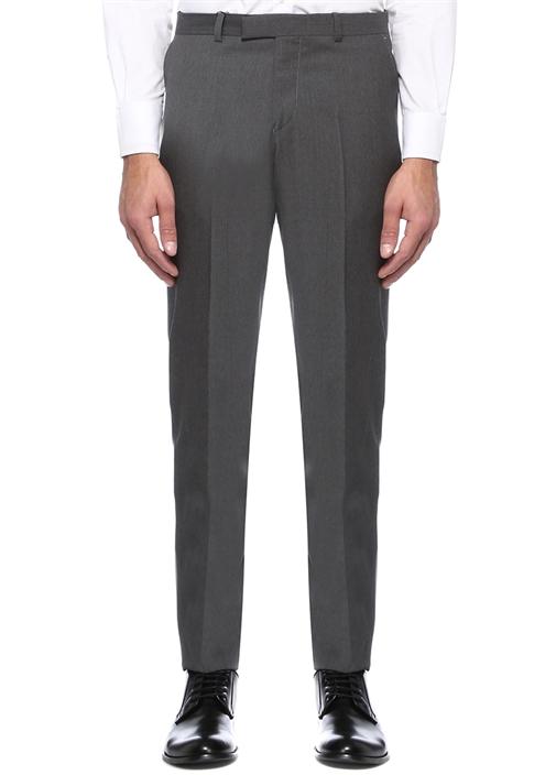 Gri 4 Cepli Yün Pantolon