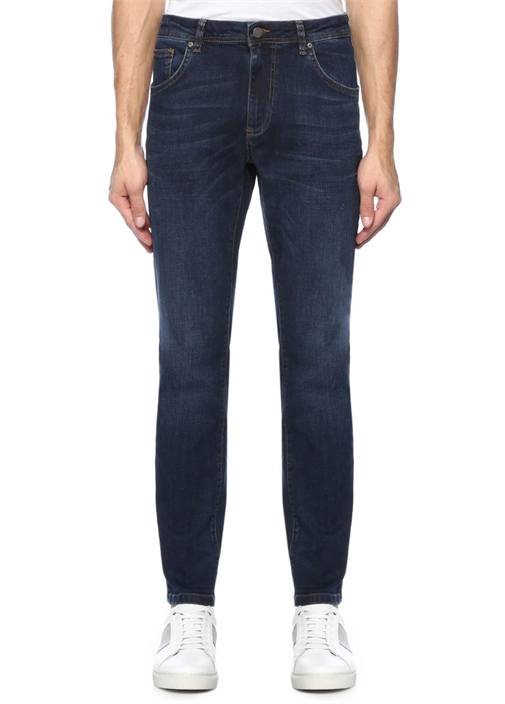 Straight Fit Lacivert Normal Bel Jean Pantolon