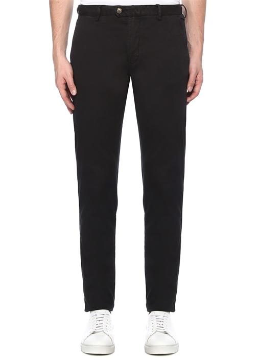 Regular Fit Siyah Normal Bel Chino Pantolon