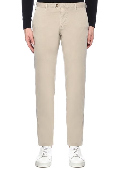 Regular Fit Bej Normal Bel Boru Paça Spor Pantolon