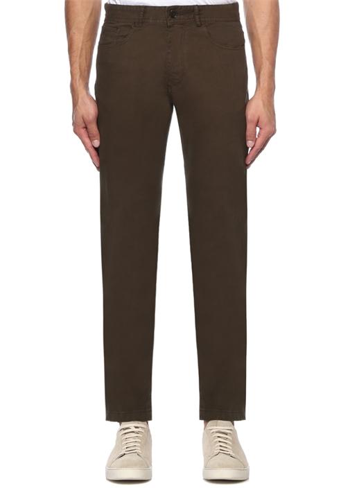 Slim Fit Haki Boru Paça Spor Pantolon