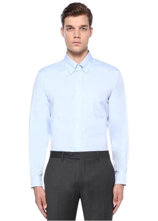 Mavi Non Iron Polo Gömlek