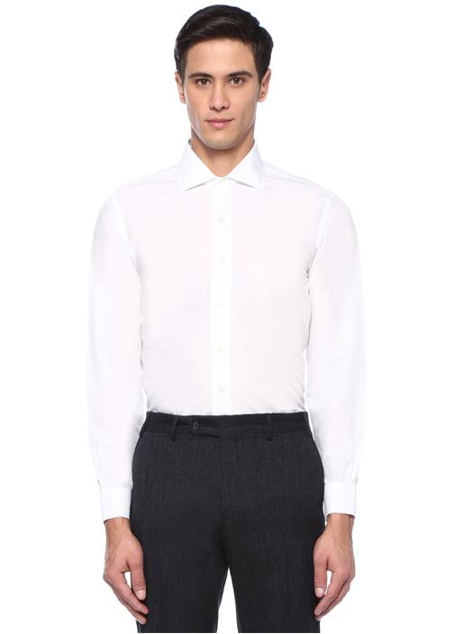 DS Eng Beyaz İngiliz Yaka Gömlek