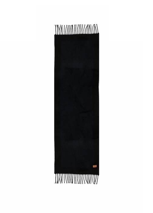 Lacivert Püsküllü Logolu 30x175 cm Erkek Atkı