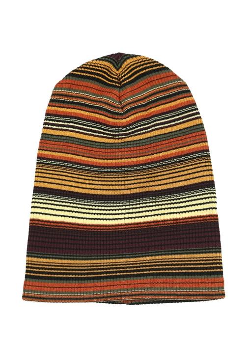 Colourblocked Çizgili Kadın Bere