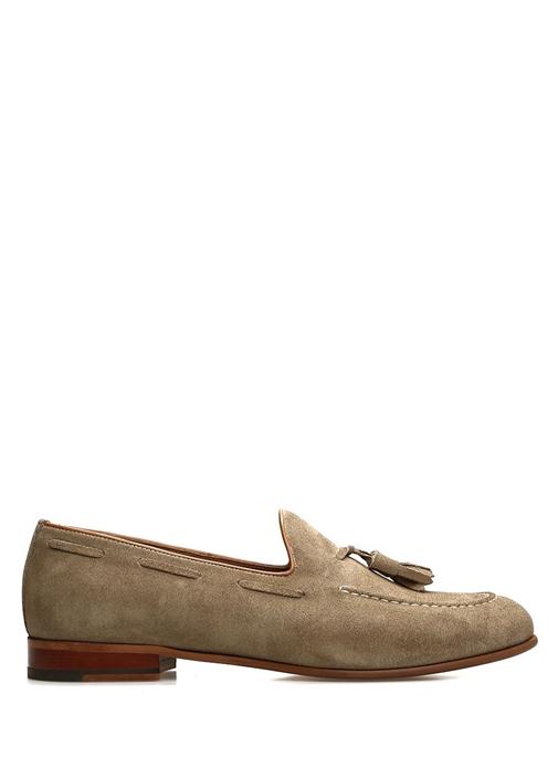 Vizon Püskül Detaylı Erkek Süet Loafer