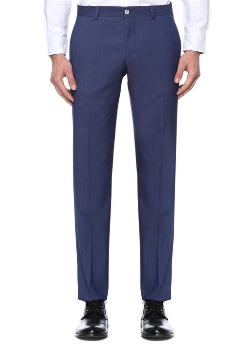 Lacivert Normal Bel Mikro Armürlü Pantolon