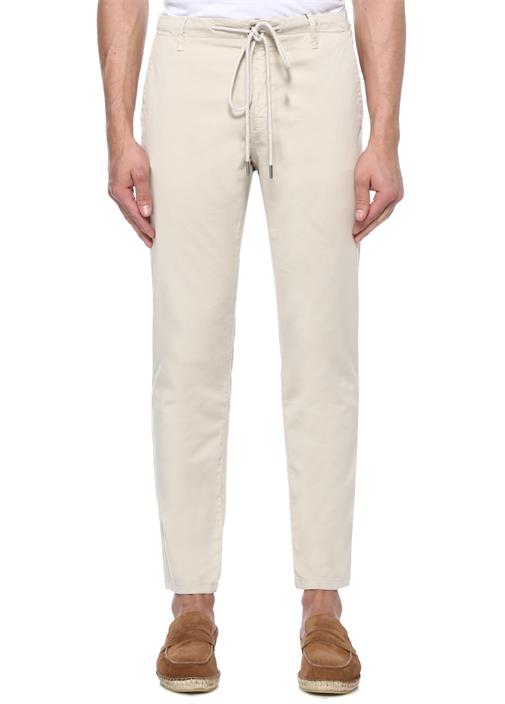 Gri Beli Kordonlu Boru Paça Spor Pantolon