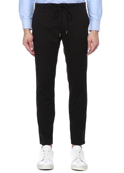 Siyah Normal Bel Dar Paça Spor Pantolon