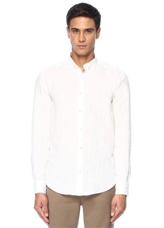 5d658261039a4 product.FirstListingPageImage.AltText HIZLI BAK · BEYMEN CLUB Comfort Fit  Beyaz Düğmeli Yaka Keten Gömlek ...