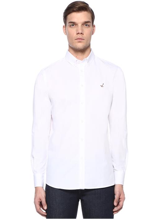 Drop 4 Relaxed Fit Beyaz Gömlek