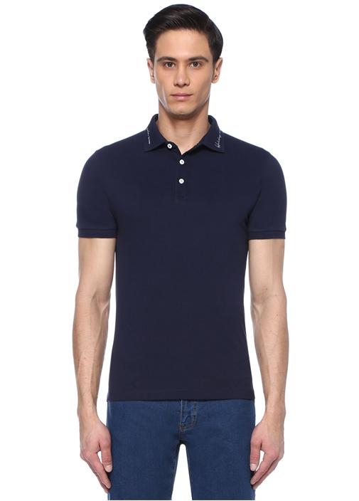 Slim Fit Sloganlı Polo Yaka T-shirt