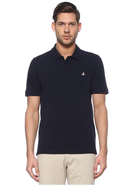 Comfort Fit Lacivert Polo Yaka Kuş Logolu T-shirt