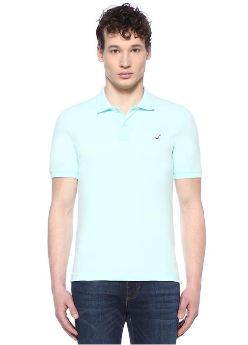 Comfort Fit Yeşil Polo Yaka Kuş Logolu T-shirt