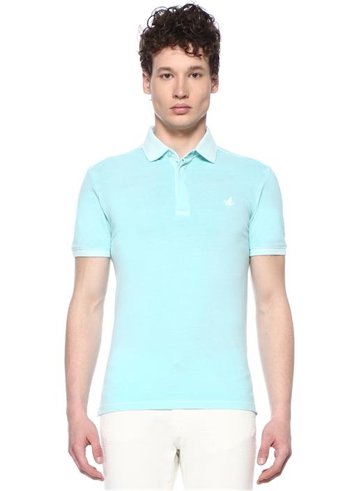 Slim Fit Yeşil Polo Yaka Pike Dokulu T-shirt