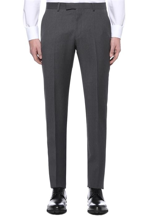 Gri Normal Bel Yün Pantolon