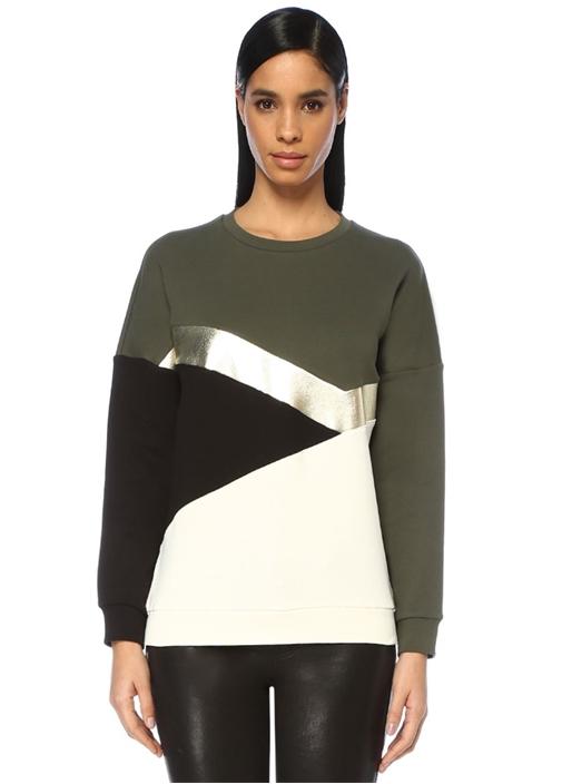 Haki Varak Garnili Colourblock Sweatshirt