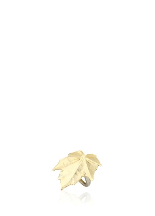 Gold Yaprak Formlu Kadın Yüzük