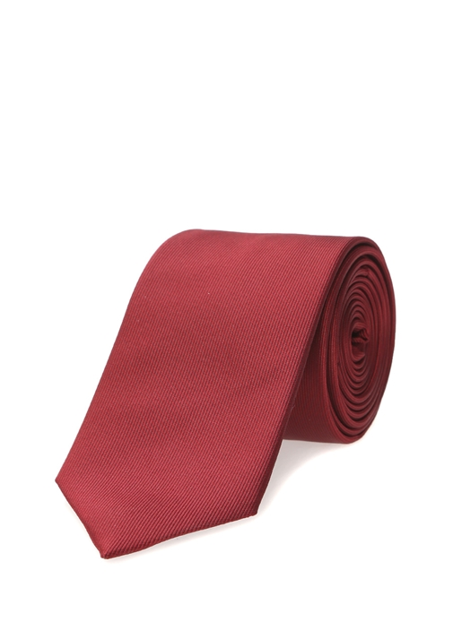 Kırmızı Çizgi Dokulu Kravat